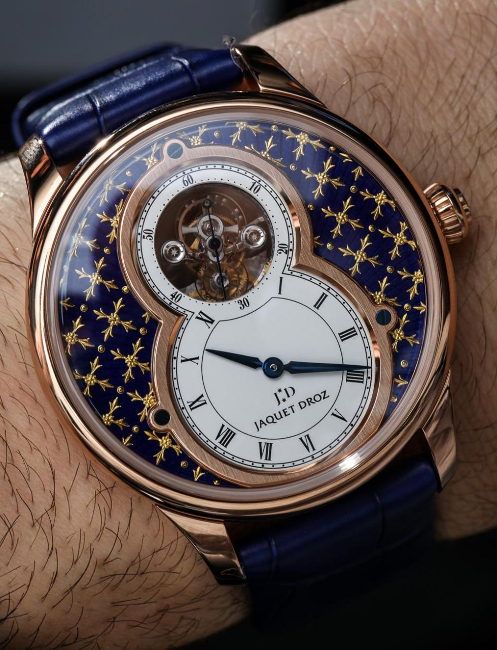 Jaquet Droz Grande Seconde Tourbillon Paillonnée Replica Watch Hands-On Hands-On