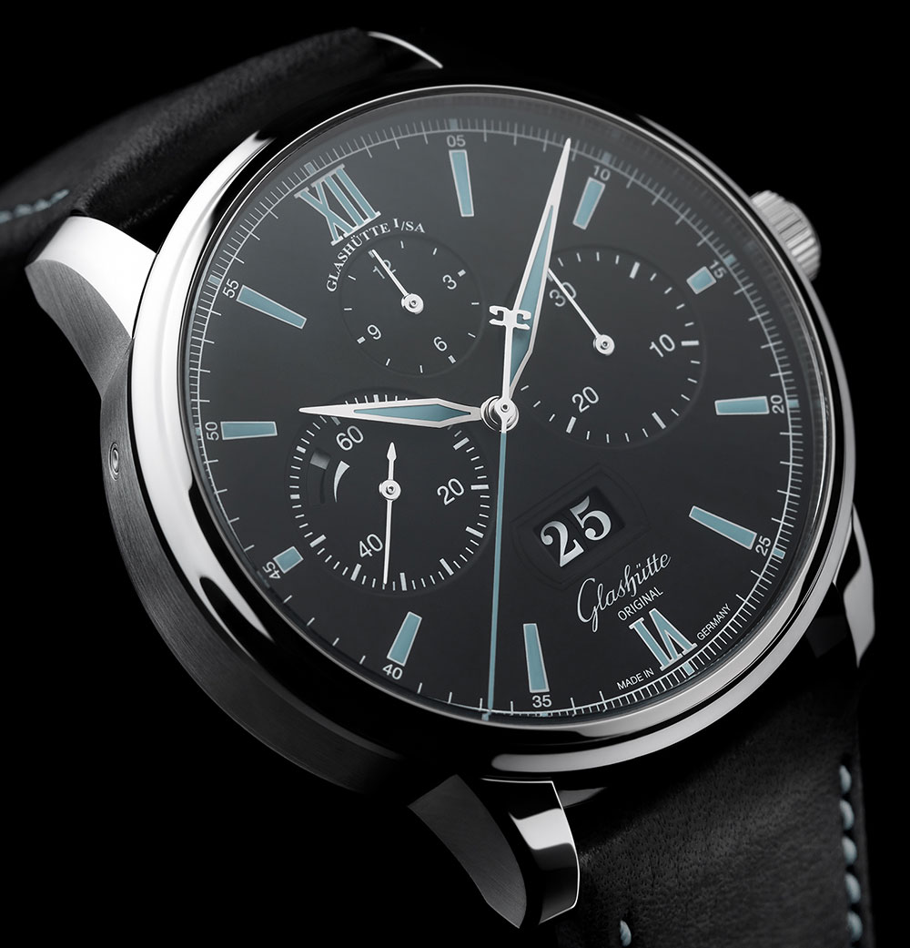 Glashütte Original Senator Chronograph Panorama Date Watch In Steel For 2017 Watch Releases