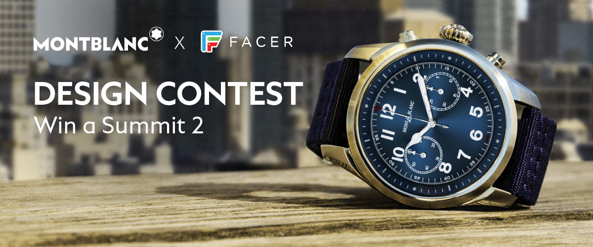 Montblanc X Facer Smartwatch Design Contest For Summit 2 Replica Watches Face